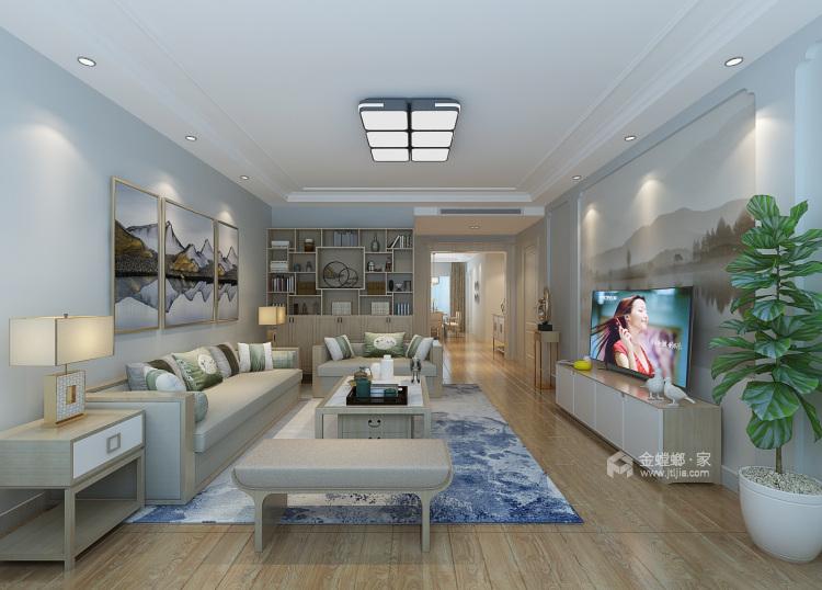 195㎡  四室   现代-客厅效果图及设计说明