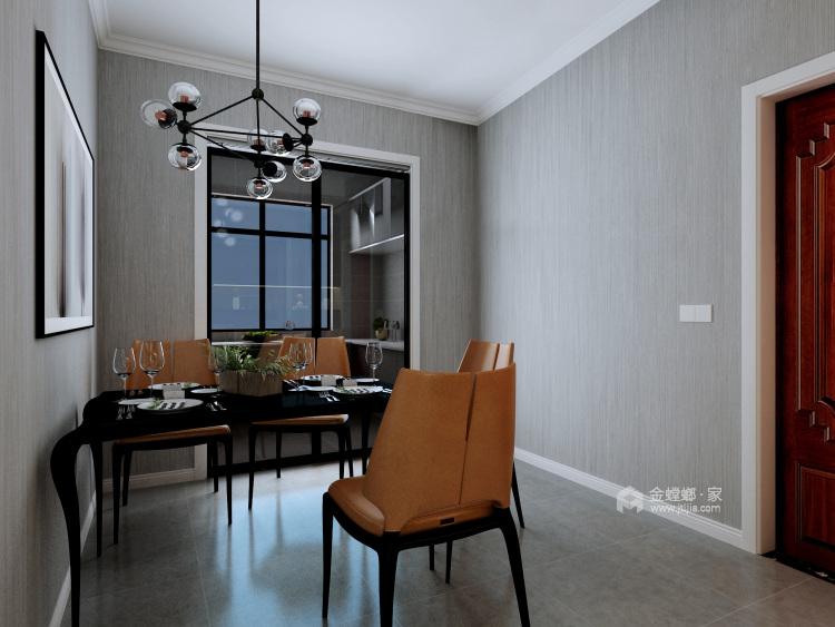 灰白基底的个型之家,营造现代休闲空间-餐厅效果图及设计说明