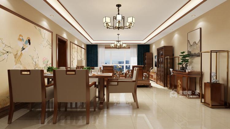 94㎡ 三室两厅  中式风格-餐厅效果图及设计说明