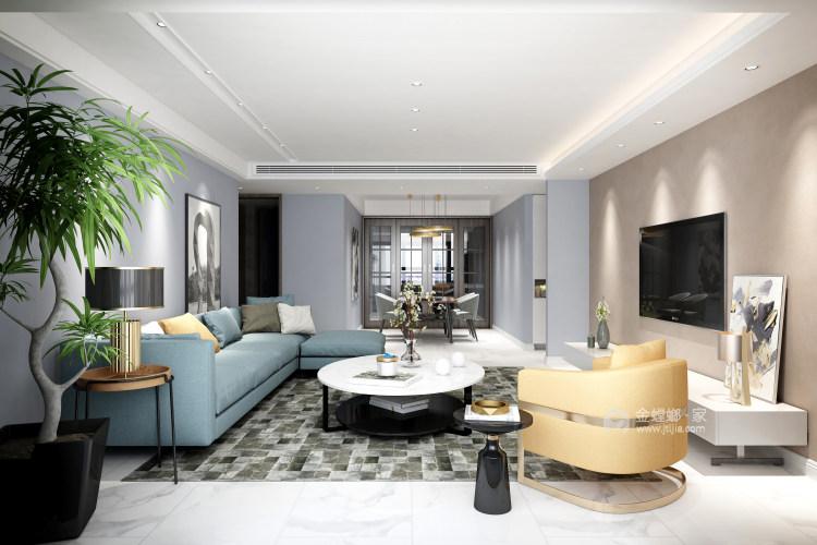 现代舒适的家-客厅效果图及设计说明