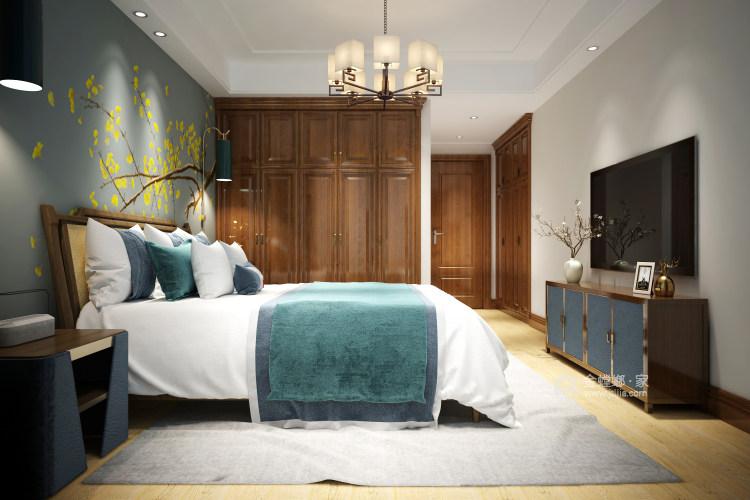 新中式大宅的典雅高贵-卧室效果图及设计说明
