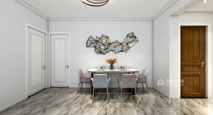 现代简约风-餐厅效果图及设计说明