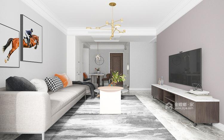 安泰名筑北卧风格-客厅效果图及设计说明