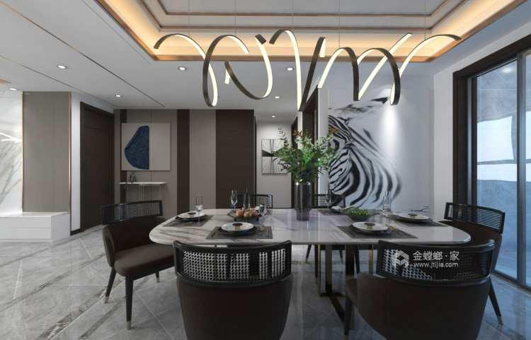 简洁大方现代好家-餐厅效果图及设计说明
