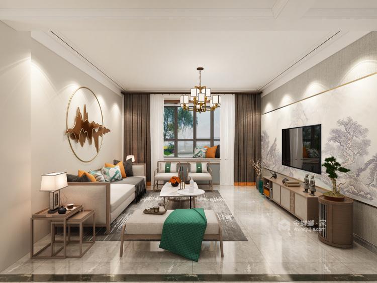 广饶梧桐印象-客厅效果图及设计说明