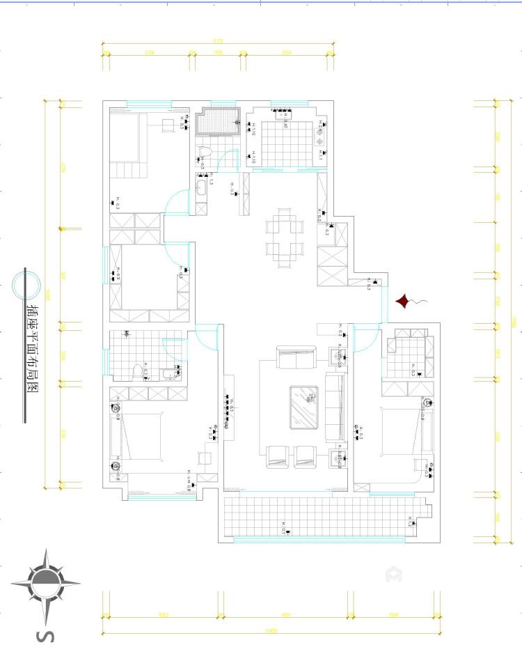 简洁大方现代好家-平面设计图及设计说明