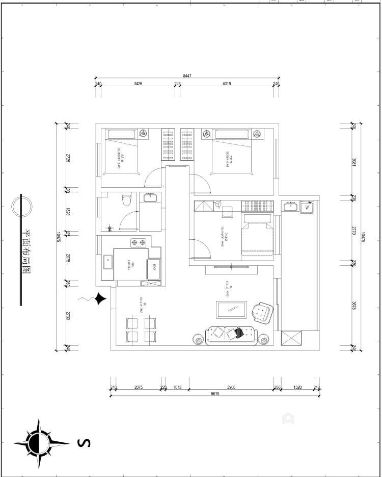 安泰名筑北卧风格-平面设计图及设计说明