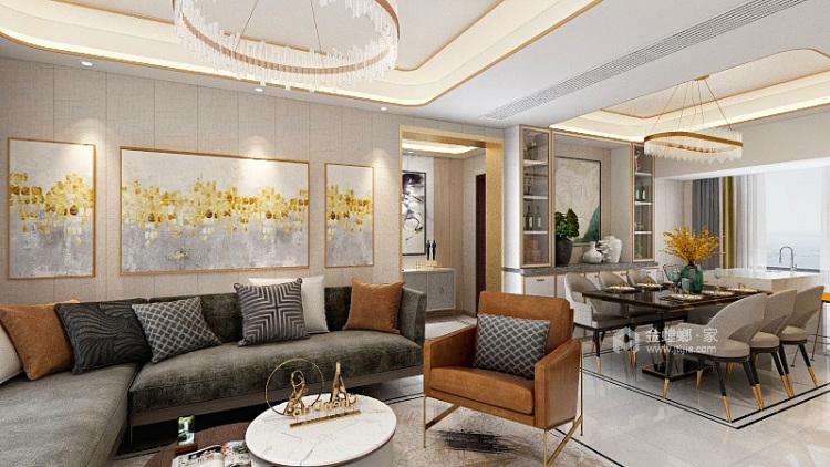 118平享受轻奢美好生活-餐厅效果图及设计说明