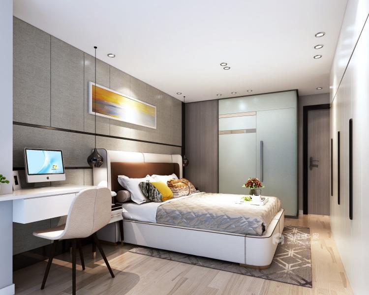 这就是我们最向往的现代极简风格!-卧室效果图及设计说明