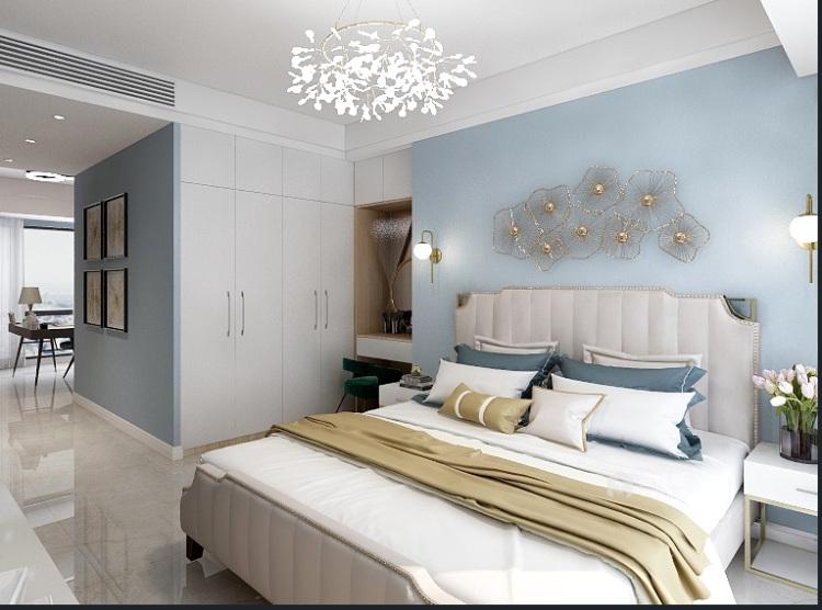 118平享受轻奢美好生活-卧室效果图及设计说明