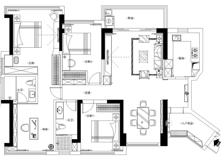 118平享受轻奢美好生活-平面设计图及设计说明