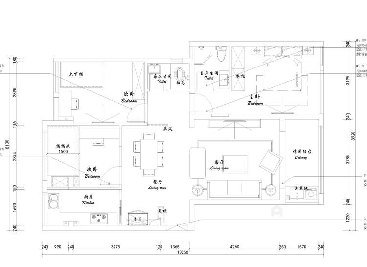 黑白灰-平面设计图及设计说明