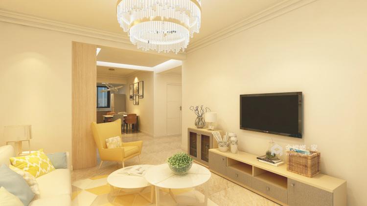 北欧极简-客厅效果图及设计说明