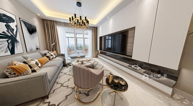 现代-客厅效果图及设计说明