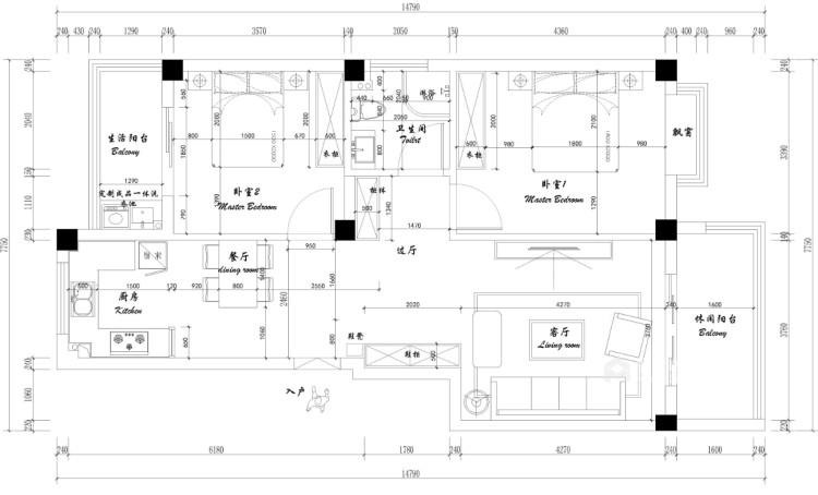 北欧极简-平面设计图及设计说明