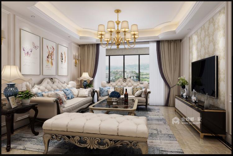 美式混搭-客厅效果图及设计说明