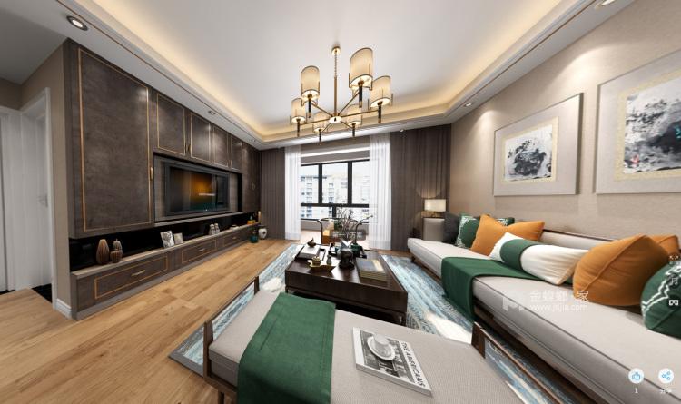 新中风格-客厅效果图及设计说明