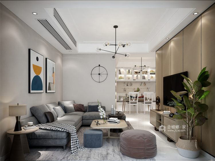 时光-客厅效果图及设计说明