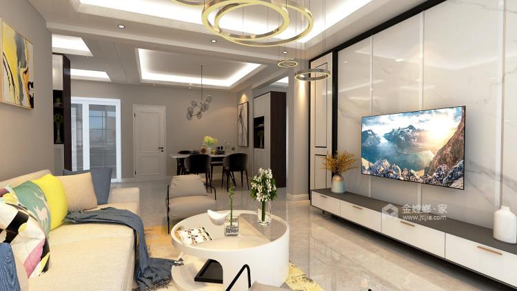 黑白灰-客厅效果图及设计说明
