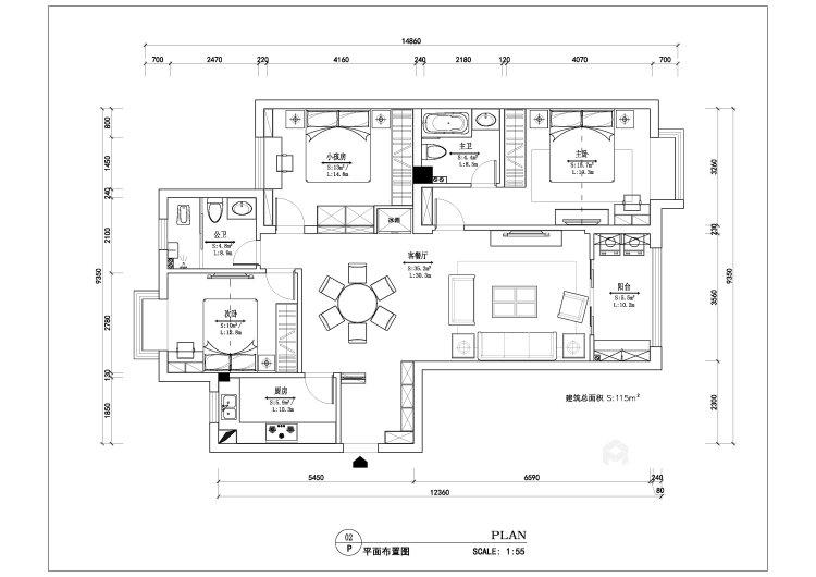 中式风格-平面设计图及设计说明