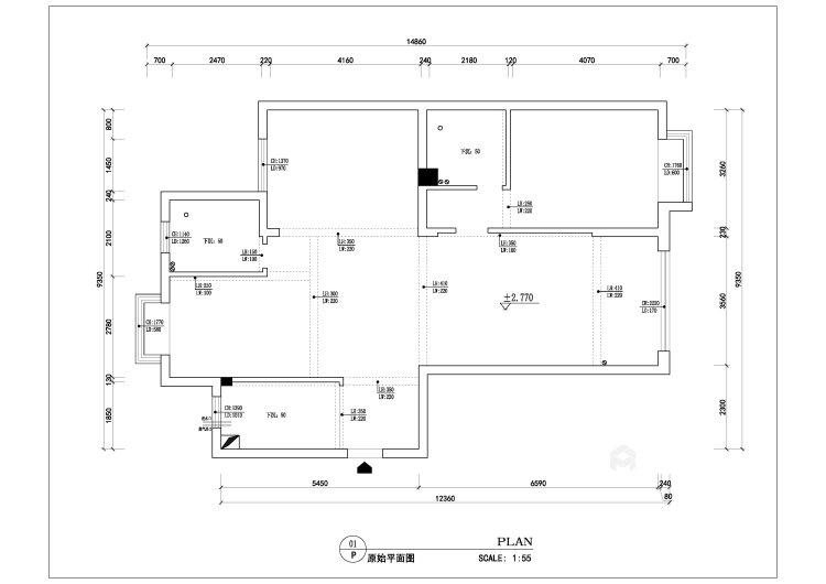 中式风格-业主需求&原始结构图