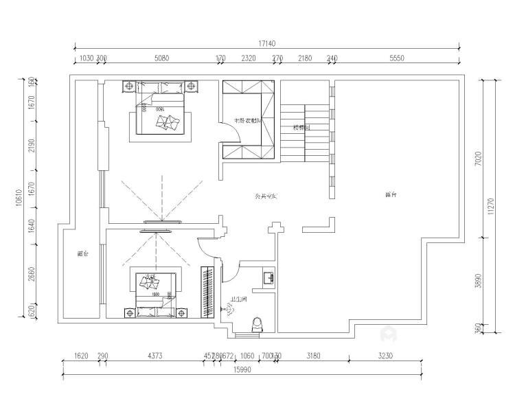 胜宏靓都简欧设计-平面设计图及设计说明