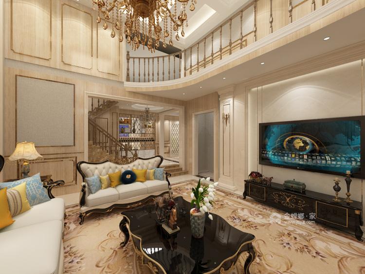胜宏靓都简欧设计-客厅效果图及设计说明