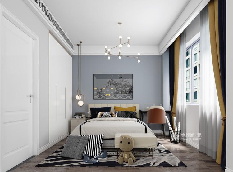 180平精致轻奢风复式-卧室效果图及设计说明