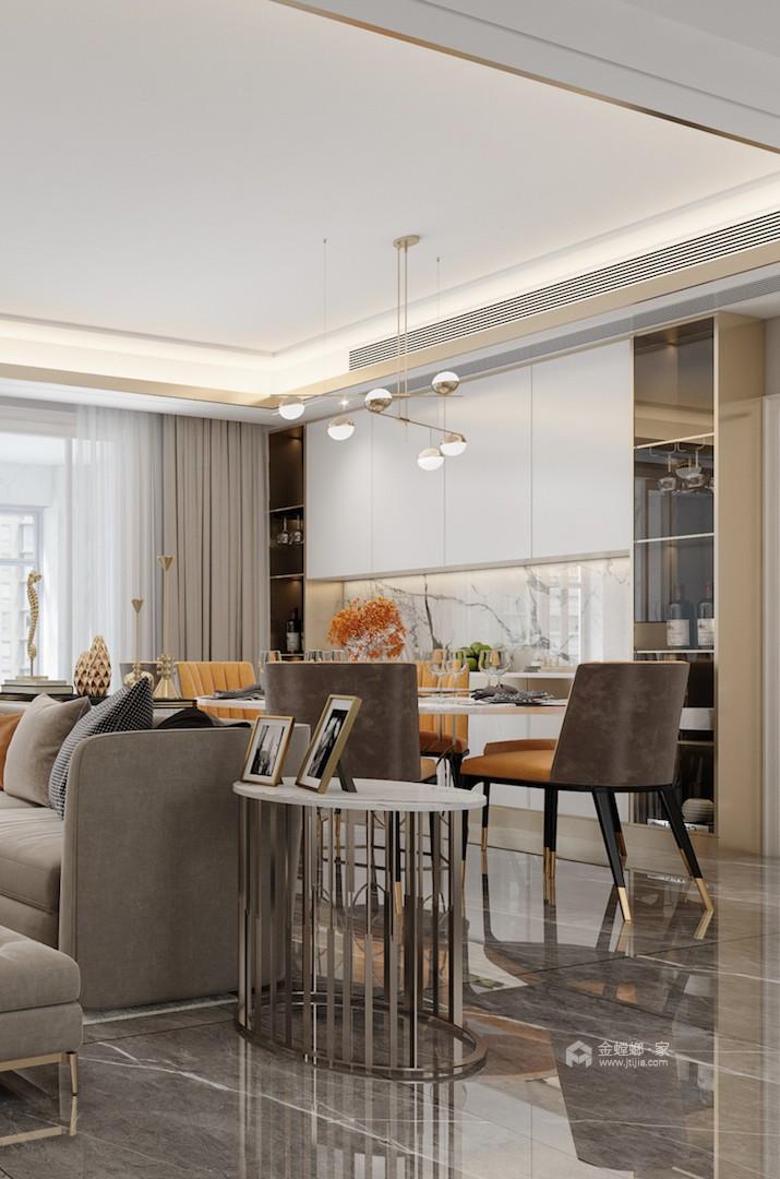 180平精致轻奢风复式-餐厅效果图及设计说明