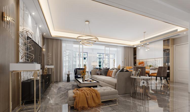 180平精致轻奢风复式-客厅效果图及设计说明