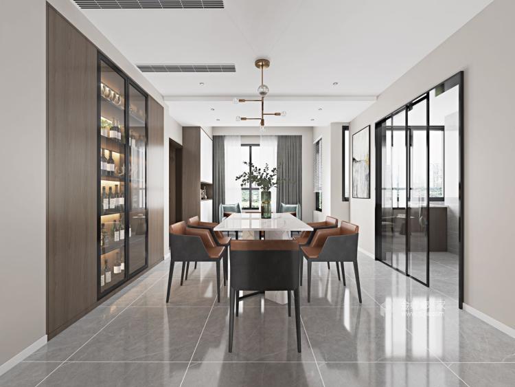 素雅现代-餐厅效果图及设计说明