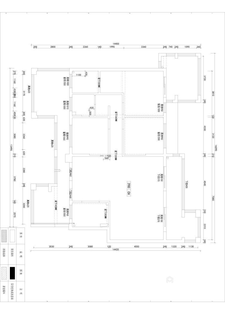 素雅现代-业主需求&原始结构图
