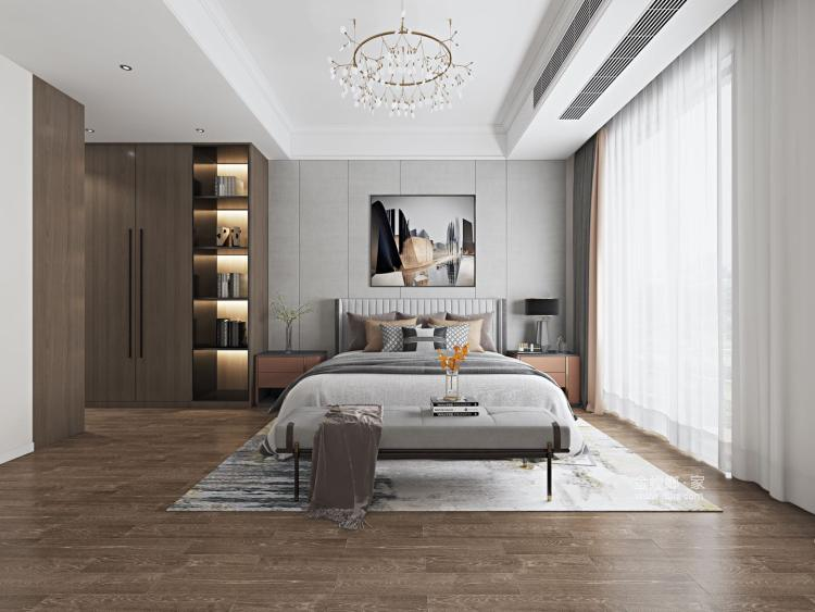 素雅现代-卧室效果图及设计说明