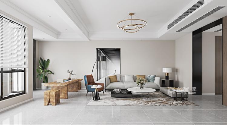 素雅现代-客厅效果图及设计说明