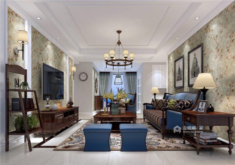 没有理由错过的美式风格-客厅效果图及设计说明