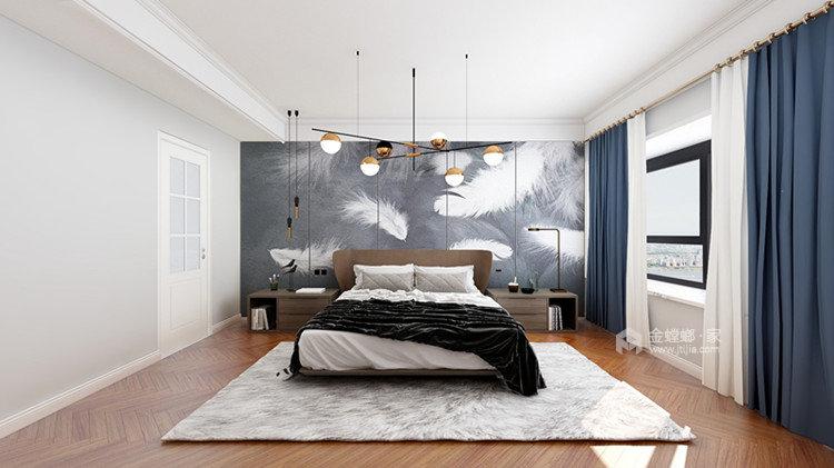 美式轻奢-灰色调的高级你懂么?-卧室效果图及设计说明