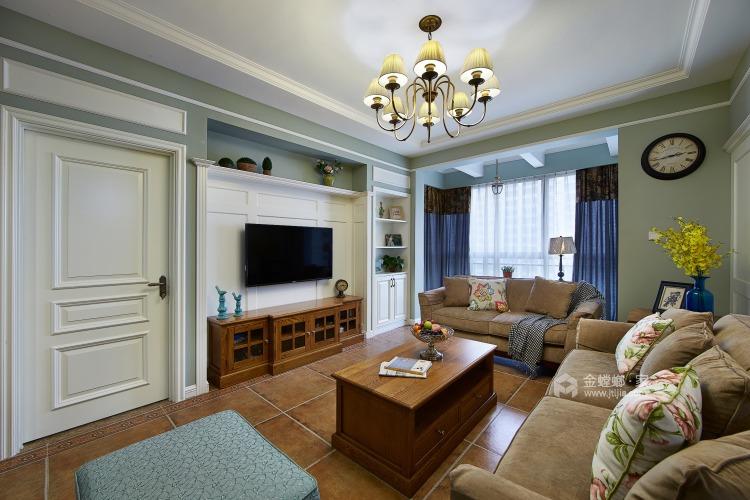 滨江国际张女士简美-客厅效果图及设计说明