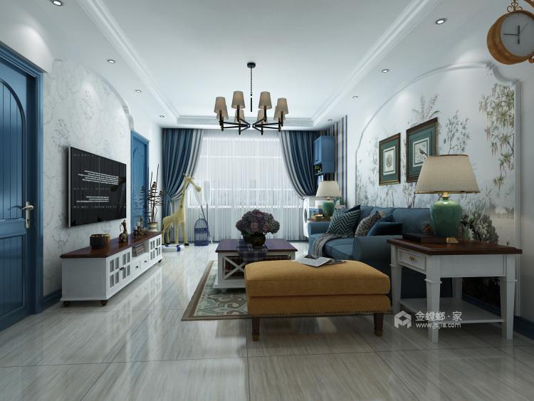 地中海——蓝宝石之恋-客厅效果图及设计说明