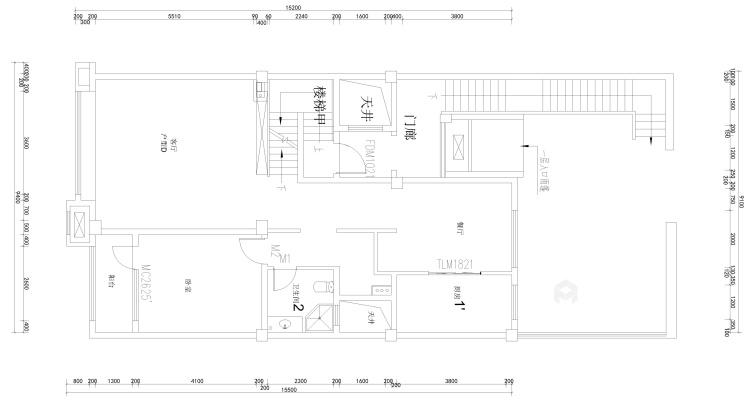 线条美感的清新简欧复式楼-业主需求&原始结构图