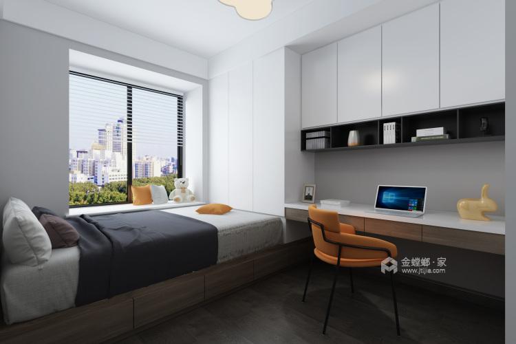 雅致灰调-卧室效果图及设计说明