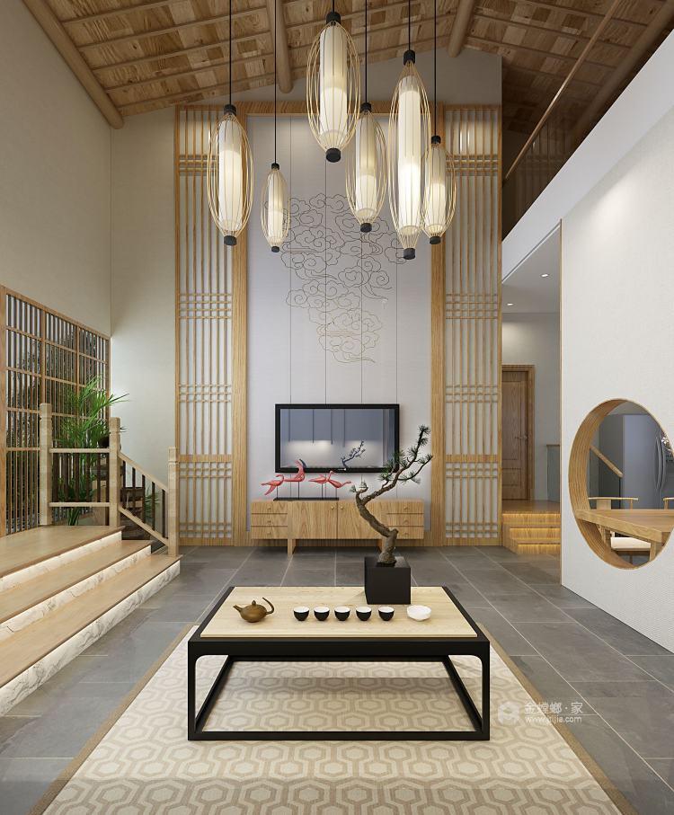 华瑞小区日式风-客厅效果图及设计说明