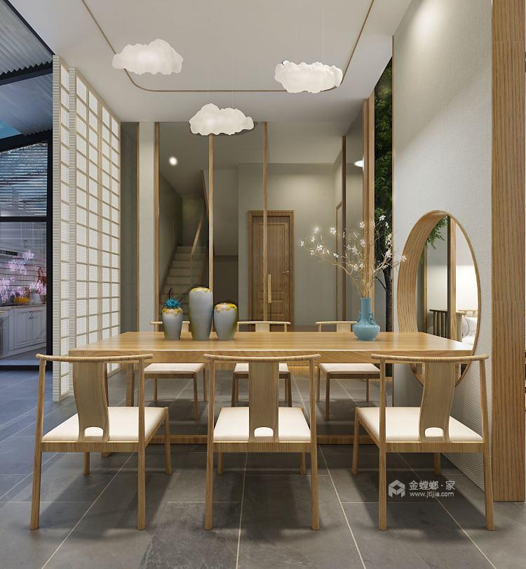 华瑞小区日式风-餐厅效果图及设计说明
