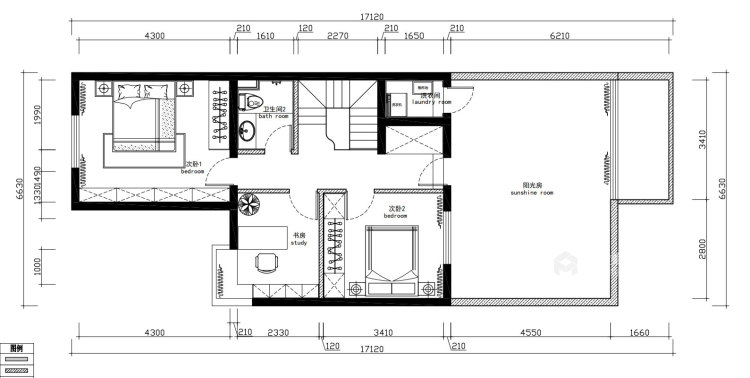 新中式4室156平-平面设计图及设计说明