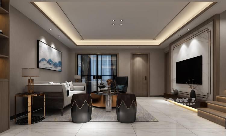 新中式4室156平-客厅效果图及设计说明