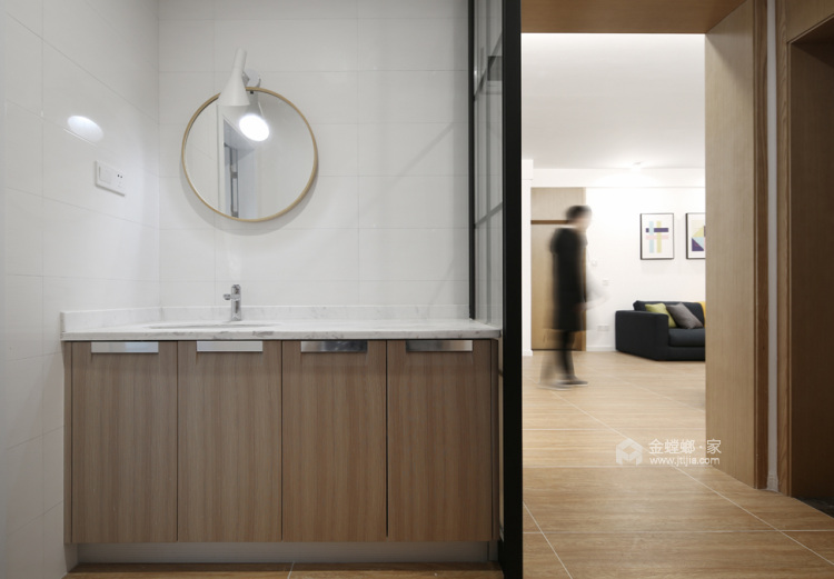 140平宜阳小区北欧风格-挪威森林-餐厅效果图及设计说明