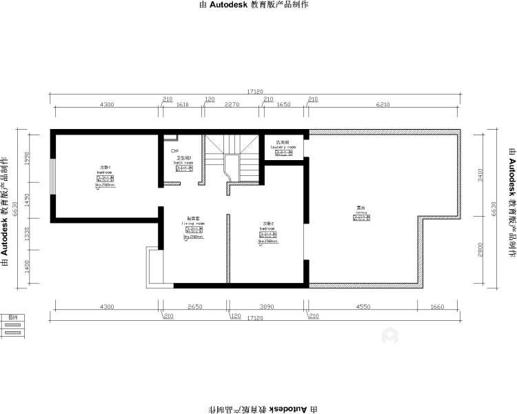 新中式4室156平-业主需求&原始结构图