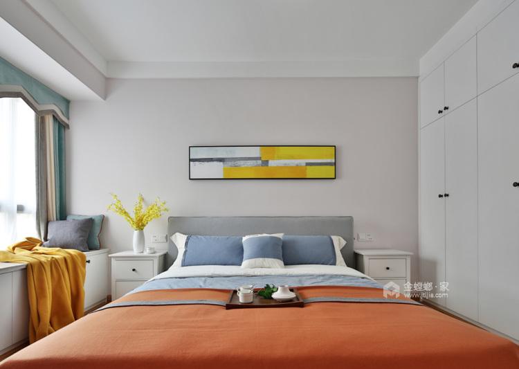 140平宜阳小区北欧风格-挪威森林-卧室效果图及设计说明