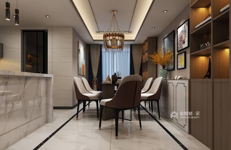 新中式4室156平-餐厅效果图及设计说明