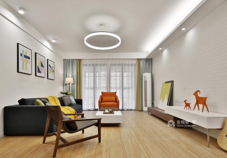 140平宜阳小区北欧风格-挪威森林-客厅效果图及设计说明