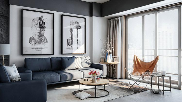 个性魅力128平现代别墅-客厅效果图及设计说明
